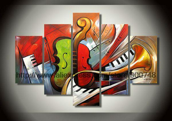 Selling Abstract Musical Instrument Theme Home Wall Art Cheap Abstract Art Simple Abstract Painting Bathroom Background High(China (Mainland))