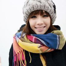 Women Winter 2016 England font b Tartan b font Scarf Plaid Brand Designer Scarfs Cutton Acrylic