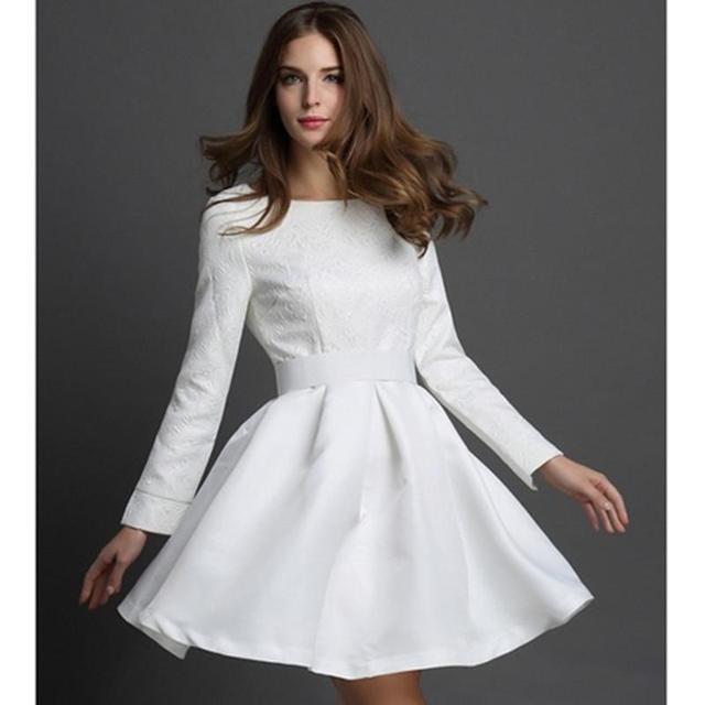 White Spring Dress - Dress Xy