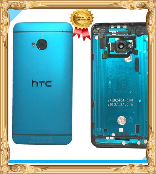 Оригинальный синий корпус задняя крышка батарейного отсека с помощью Power +кнопка громкости для HTC один / 801e / М7
