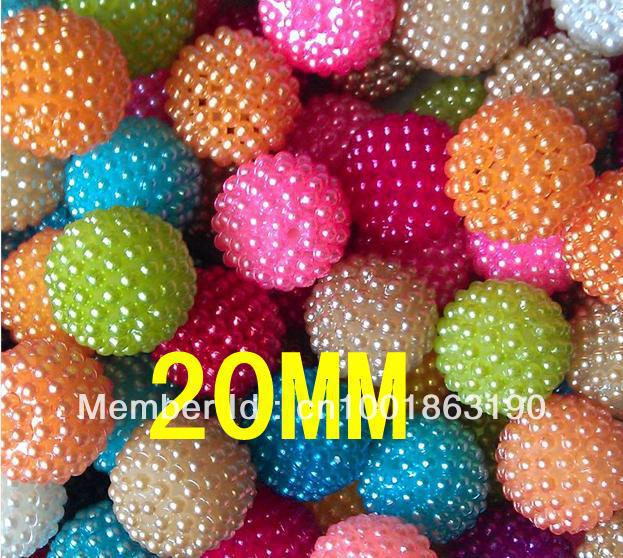 10 20MM Mixed Color,2013 Newest DIY Chunky beads loose Berry Acrylic Beads - Jewelry Findings store