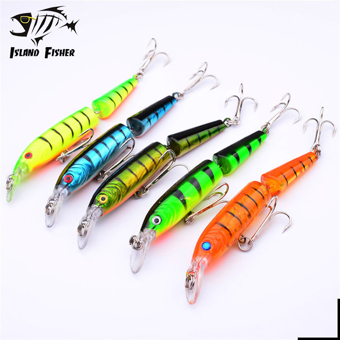 5pcs/lot New Design Fishing Bait 5 Color 10.5cm/9.6g Jointed Minnow Lures Swim Bait Fishing Equipment Fishing Tackle(China (Mainland))