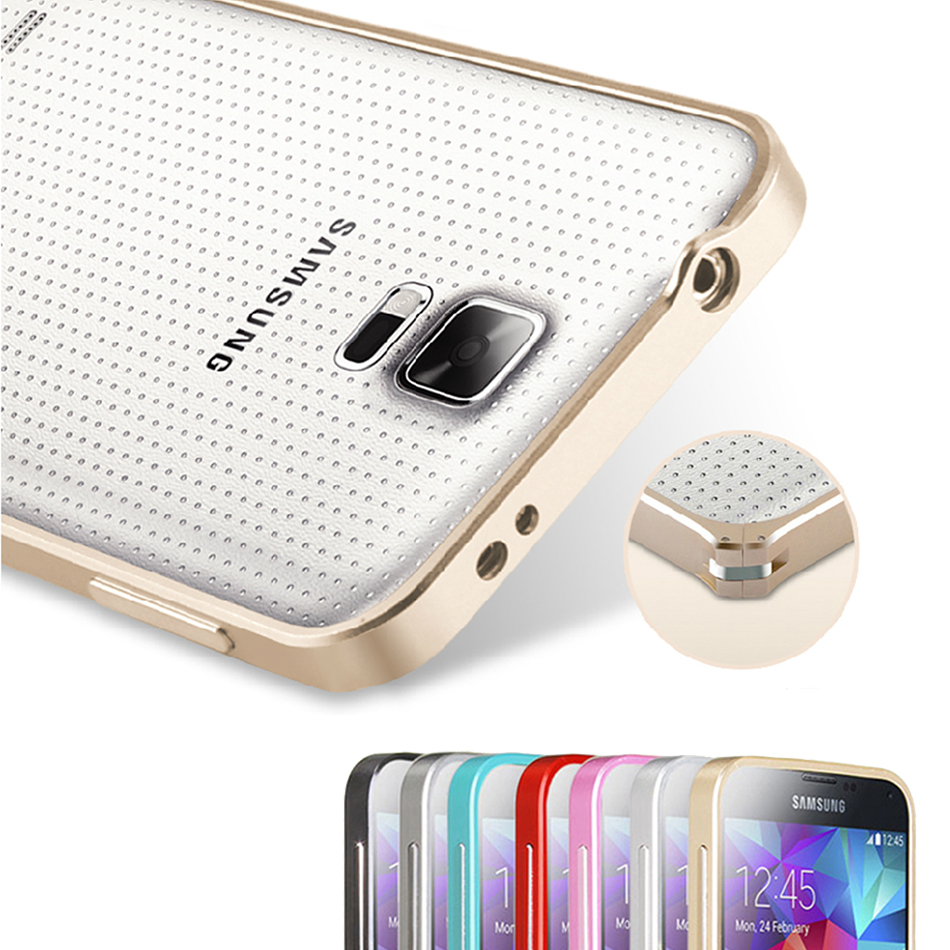 Ultrathin Aviation No Screws Frame Cover Ultra Thin Metal Luxury Aluminum Bumper Case For Samsung Galaxy S5 i9600(China (Mainland))
