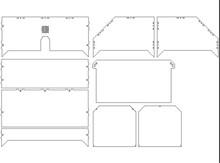 DIY Makerbot Replicator 3d printer 3mm acrylic hood cover plates kit Enclosure kit for Replicator 3D Printer Clones