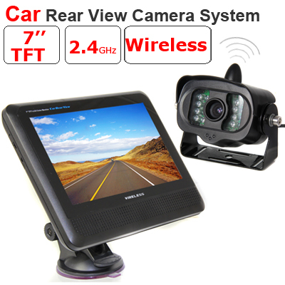 Universal 2.4G 1.3 Mega-Pixels HD Car Rearview System 7 Inch Large Screen Wireless Camera(China (Mainland))