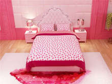 sexy pink  rosy lips print bedding set for girl's home decor twin full queen king size bedspread bed linen duvet covers sheets(China (Mainland))