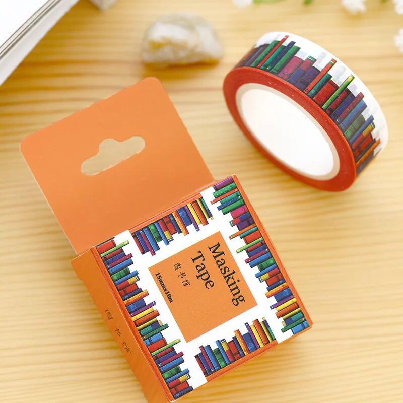 1 pc pack size 15 mm 10m diy library washi tapes masking for Tape works decorative tape