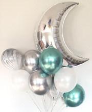 1 مجموعة 36 بوصة الفضة الذهب الوردي القمر بالونات معدنية بالون عيد ميلاد زينة حفلات الزفاف عيد الحب لوازم الاطفال لعبة(China)