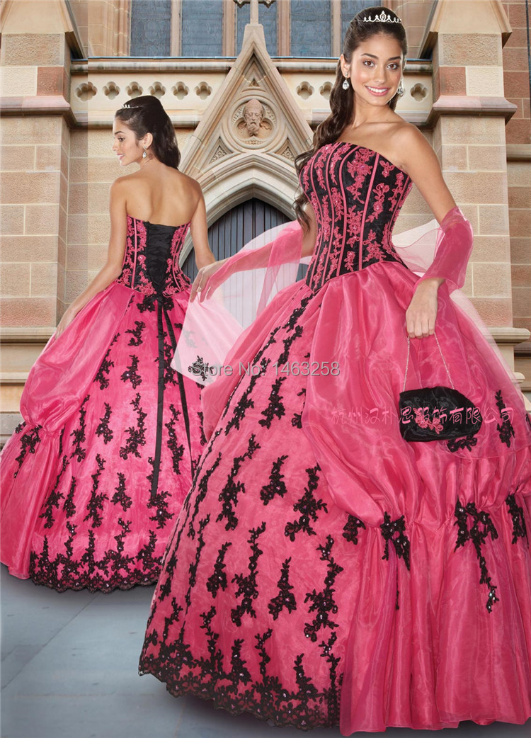 2014-Hot-sale-Princess-Pink-Ball-Gown-Dress-for-15-Years ...
