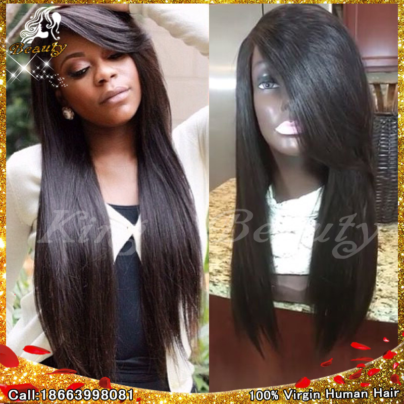 Lace front wig human hair 7A 100% Lacefront 7a none full lace human hair wigs short straight glueless unprocessed virgin brazilian lace front wig black women