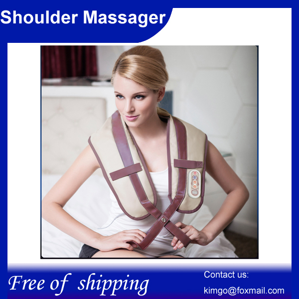 Free shipping!U Shape Electrical Shiatsu Back Neck Shoulder Massager belt for massage(China (Mainland))