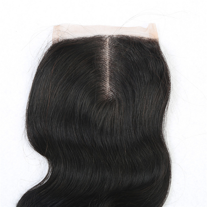 20 7a 4*4 Virgin hair Brazilian body wave closure bleached knots human hair free/middle 3 part lace closure with free shipping<br><br>Aliexpress
