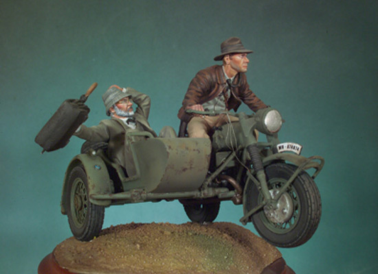 Resin Models Indiana Jones 1/32 Harrison Ford AND 1/35 Sean Connery Kits Free Shipping 1 piece(China (Mainland))