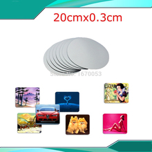 10pc/lot Free Shpping+Whole Sale Blank Round Pad for Heat Transfer Flat Press Material High Quality(China (Mainland))