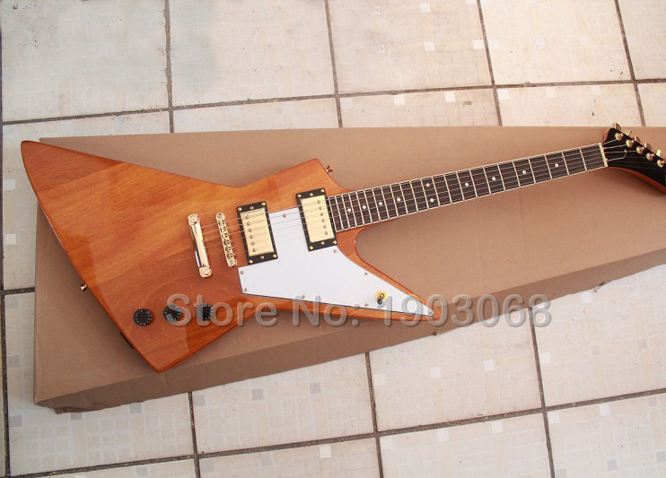 New arrival Custom Government Series II natural color Explorer electric guitar,rosewood fretboard Explorer guitar,Free shipping(China (Mainland))