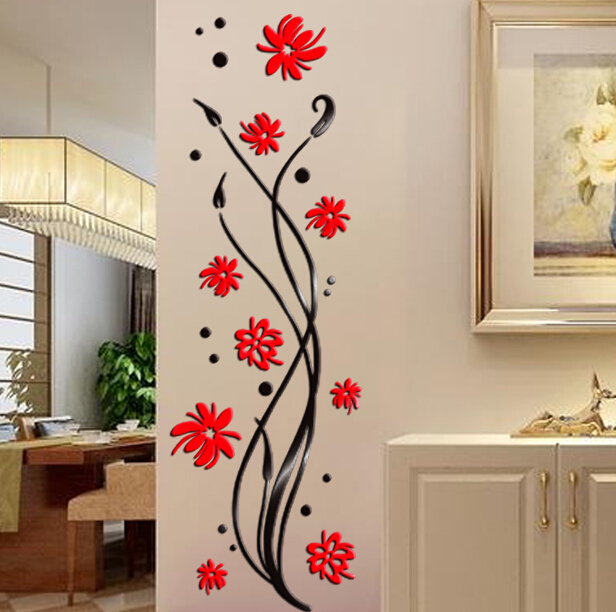 Http Www Aliexpress Com Store Product 2015 Phalaenopsis 3d Crystal Acrylic Stickers Walkway Entrance Corridor Wall Stickers Wall Decoration Backdrop 1487948 32351083017 Html