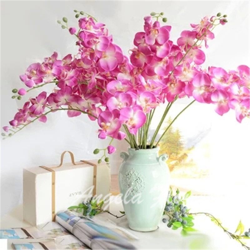 2015 NEW Natural artificial silk moth orchid flower decorative Orchid for new House Home Wedding party Decoration(China (Mainland))