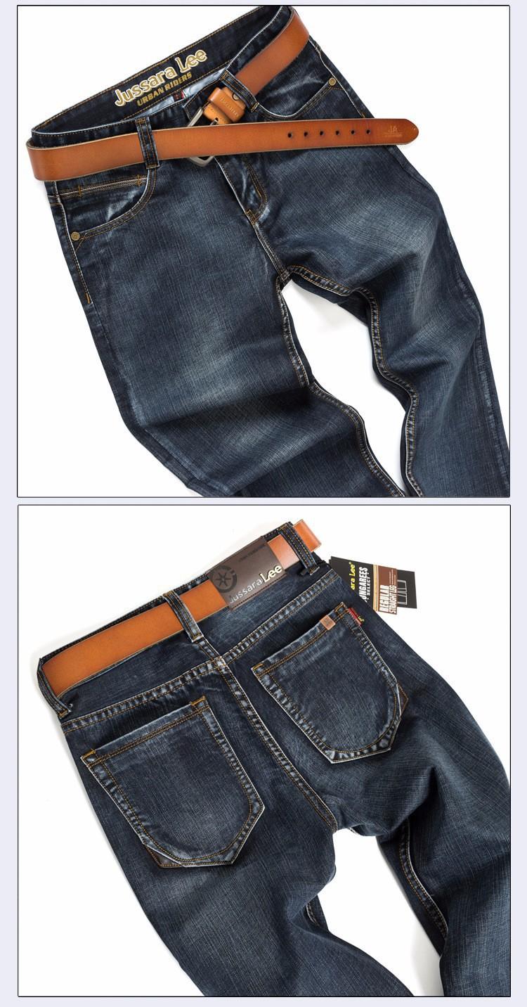 Jussara LEE Brand Jeans Men Stripe Jeans Male Casual Straight Denim Men's Jeans Slim Wholesale Jeans