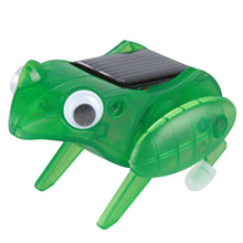 1Pcs Cute Solar Frog Toy for Kids Children Funny Novelty Solar Jumping Frog Toy Great Gift for Babys K5BO(China (Mainland))