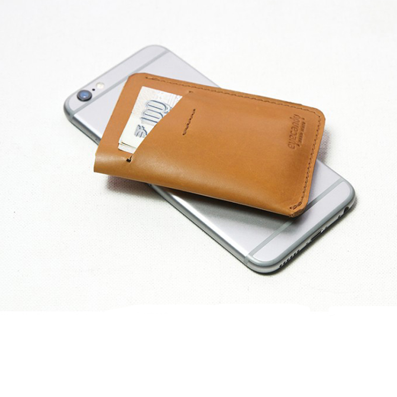 Top layer cow leather genuine leather customized card holder mini wallet men business card wallet(China (Mainland))