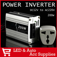 200W Watt Portable Car Automotive Power 12V 200V Inverter Charger Converter DC 12 to AC 220 Modified Sine Wave FREE SHIPPING(China (Mainland))