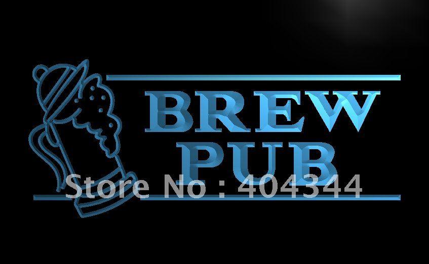 LB118- OPEN Brew Pub Bar Club Displays LED Neon Light Sign home decor crafts(China (Mainland))