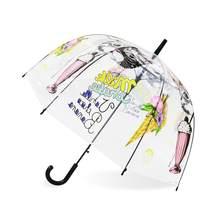 Paraguas de niños unicornio paraguas transparente niños paraguas láser lindo dibujos animados Alpaca paraguas para chica Sakura Dropshipping(China)