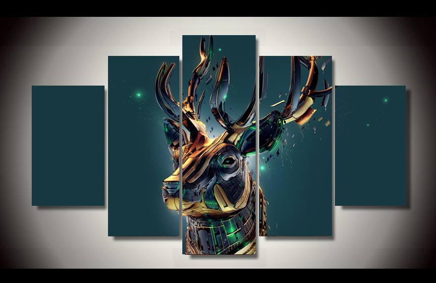 HD Printed Sika plastic arts 5 pieces Painting children's room decoration print poster picture canvas Free shipping/up-843(China (Mainland))