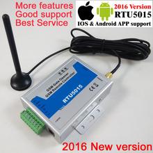Livraison gratuite avec postes mail RTU5015 GSM porte ouvre-porte de l'opérateur avec télécommande SMS alarme 1 sortie / 2 entrées(China (Mainland))