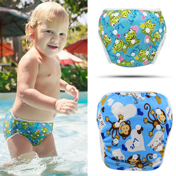 Reusable Swim Diaper 2016 Fashion Baby Swimwear Girls Toddler Diaper Cartoon Diapers for Swimming Brand Designer Baby Swimsuit