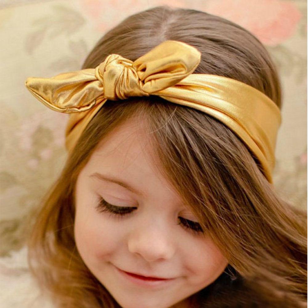 Fashion Candy Colors Solid Handmade Bronzing Headband With Sweet Cute Rabbit Ears Headwear For Pretty Girls(China (Mainland))