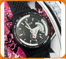NEW HOT outdoor sport Luxury Military Pilot Aviator Army Style black Silicone WRIST WATCH for MEN