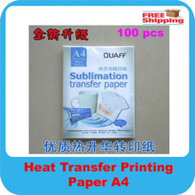 FREE SHIPPING 100pcs/lot Heat Transfer Printing Paper, A4 Sublimation transfer paper 46*32*14CM (China (Mainland))