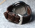 Handmade Brown 20mm 22mm New Design Durable Watchband Genuine Leather High Quality Watch Bracelet Strap For