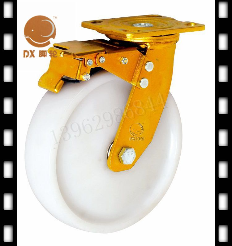 8-inch heavy-duty casters elephant activity double brake caster level pure lockable steering wheels and brakes<br><br>Aliexpress