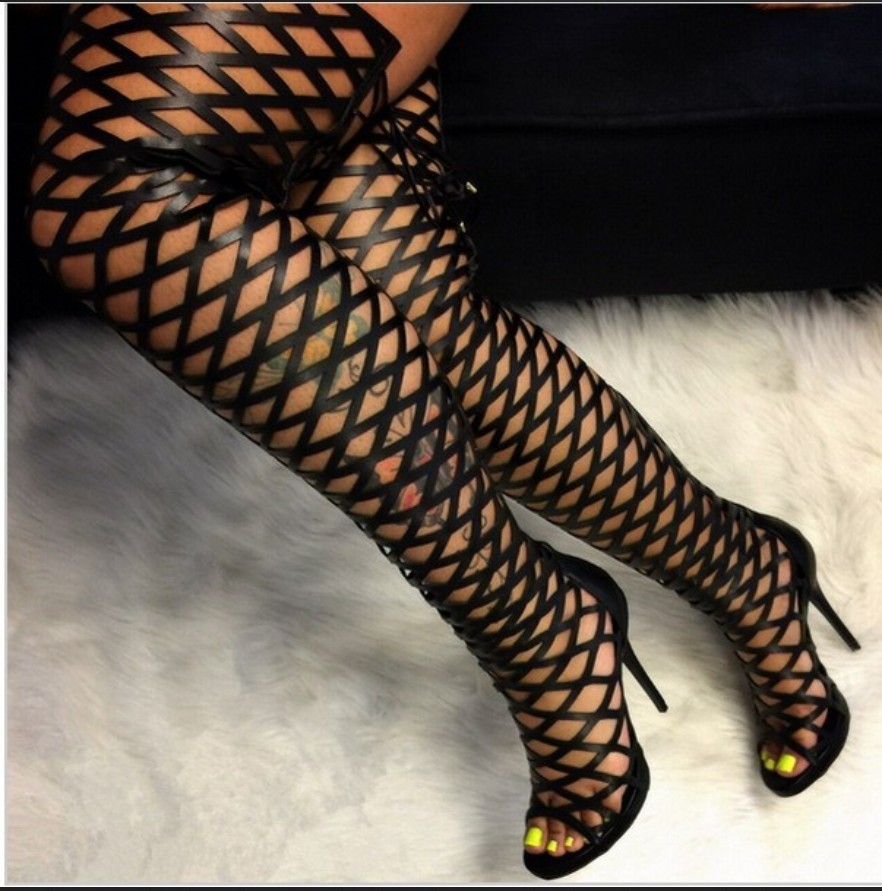 Online Buy Wholesale thigh high caged boot from China thigh high ...