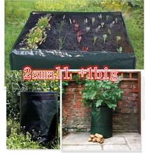 3 unidades de verduras patata cultivationplanting bolsas de PE bolsas Grow Bags ollas y macetas de jardín jardín suministros(China (Mainland))