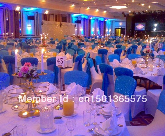 Wedding Decoration Ideas Usa : Pcs lot royal blue wedding decorations chair covers to