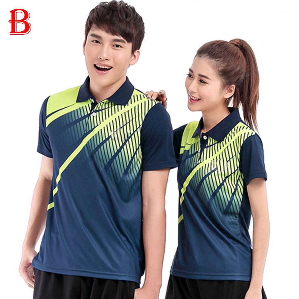 Men And Women Table Tennis Polo Shirts Beautiful Polyester Quick Dry Fashion Tennis Shirts BTF10(China (Mainland))