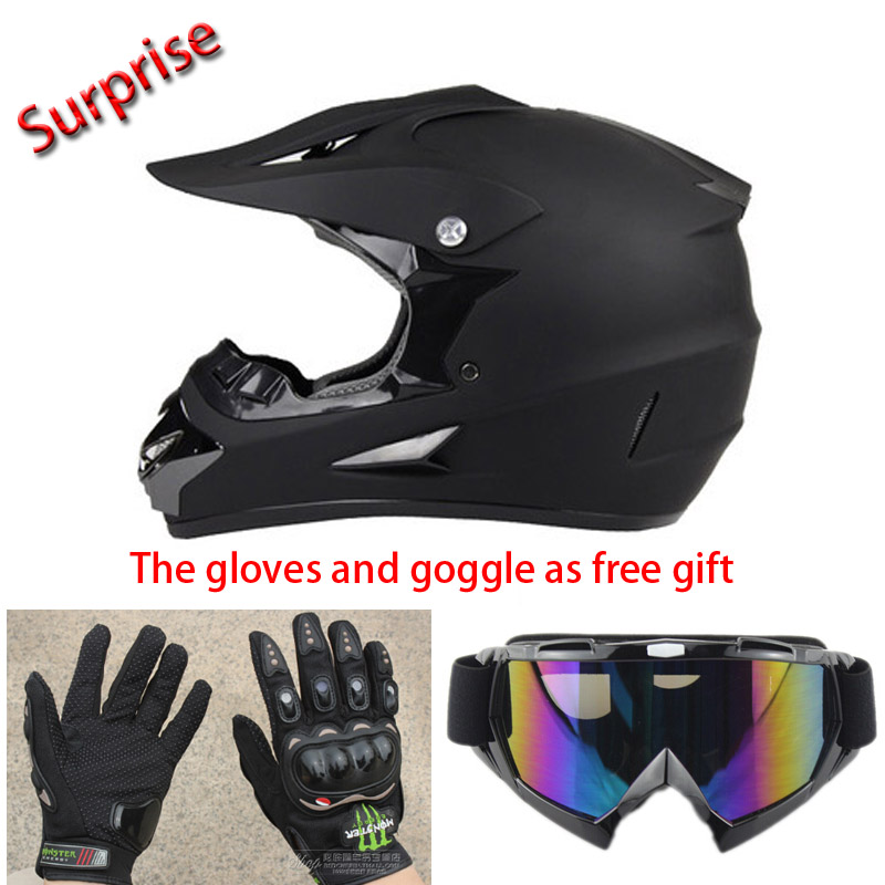 Matt Black Road Helmet Motorcycle DOT Motocross Racing Helmets Goggle Gloves Kids MTB Downhill Motobike - Yueqing XKYN Sporting Goods Co.,Ltd. store