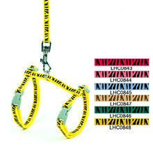 Zebra Print Adjustable Cat Lead Leash Harness Set Small Pet Cats Safety Rope Halter Kitty Small Dogs Collar(China (Mainland))