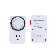 CSS US Plug 24 Hour Programmable Mechanical Electrical Plug Program Timer Power Switch Energy Saver(China (Mainland))