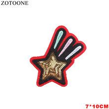 Zotoone carta militar flores unicórnio remendo para roupas de ferro em apliques bordados diy acessórios vestuário costura adesivos(China)