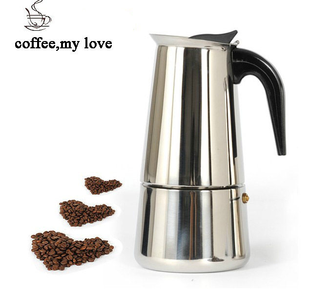 Bialetti,300ML coffee pot Inoxpran's supplier Hot Sale 6cup High quality Moka coffee maker,Express coffee pot(China (Mainland))