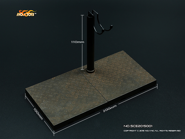 MC toys 1/6 Soldier accessories Scene matel plate support platform for all 1/6 action figure(China (Mainland))