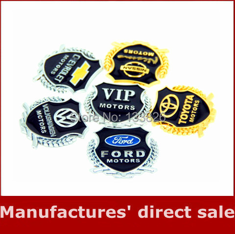 2014 New 3D Metal Car Hood Side window Sticker Car Emblem Logo Badge Graphics Decal Stickers Car Accessories for Decoration(China (Mainland))