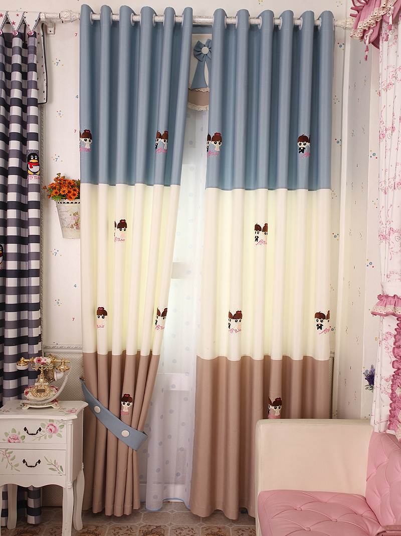 Meet high end ikea cartoon shading fabric boys girls for Boys curtain material