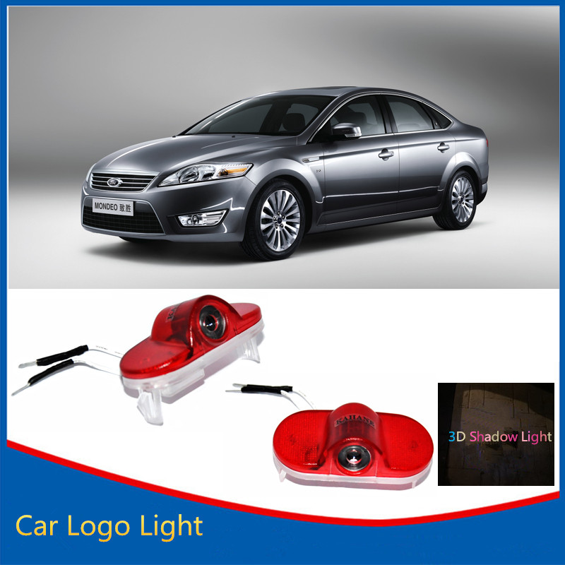 2x LED Logo Light LED Car Door Light Welcome Light Ghost Shadow Light FOR Ford Mondeo S-MAX(China (Mainland))