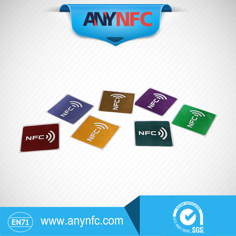 Hottest NFC TAG sticker 7pcs Lot 7 Color chip NTAG213 NFC tag universal lable Free shipping