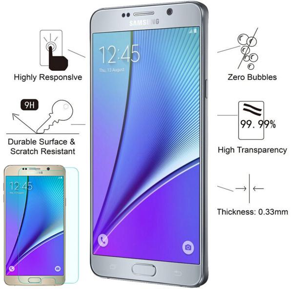 2.5D Round Edge Tempered Glass Film for Samsung Galaxy Note 5 N9200 N920 N920i N920C N920F Protection decran verre trempe Garde(China (Mainland))